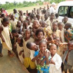Arrivée du Père Bernard - Centre de Davougon au BENIN - Septembre 2010
