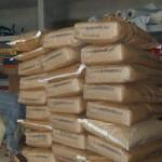 Une partie du lait écrémé en poudre offert par S.O.S. BOîTES DE LAIT - Porto Novo au BENIN - Juillet 2012