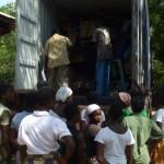 Arrivée du conteneur à Porto Novo au BENIN - Juillet 2012