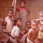 Des enfants du centre de réhabilitation nutritionnelle au centre de Monori aux COMORES