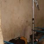 Enfant soigné du choléra au centre de Garoua au CAMEROUN