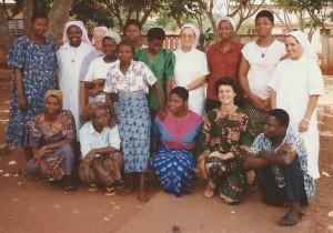 Soeur Anne Marie et toute l'équipe du dispensaire d'Abomey au BENIN