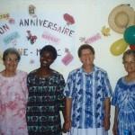 Toute l'équipe de Mvom Nnam, de gauche à droite Soeur Francoise Therese, Paul Marie, Anne Marie et Claudette - Centre de Sa'a