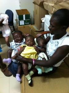 Nos triplés - Horizon de l'Espoir Haïti Mai 2013