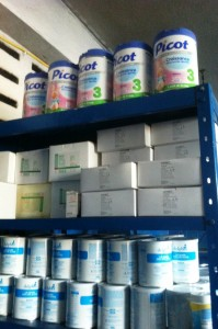 Une parti de notre stock avec votre bon lait - Horizon de l'Epoir Haiti Décembre 2013