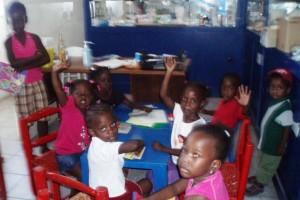 Une partie des Petits Ecole de Sophie - Haiti Février 2010
